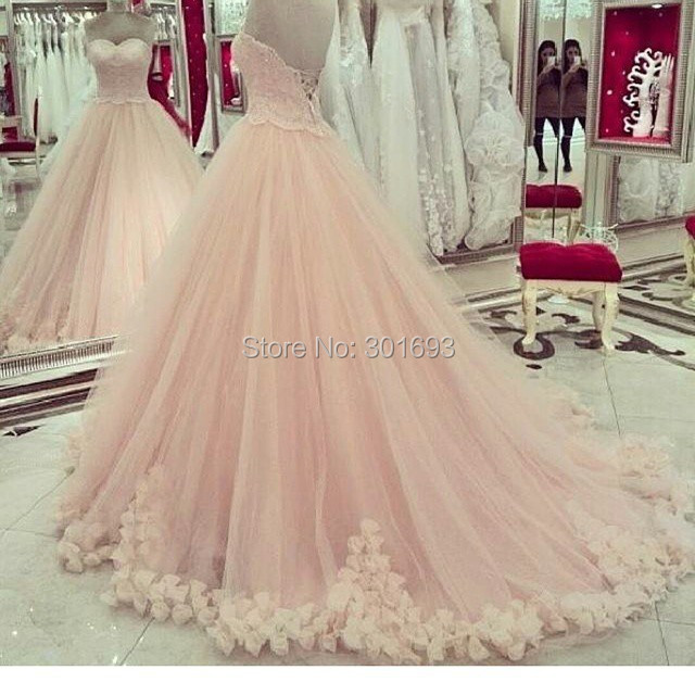Online Buy Wholesale peach wedding dresses lace from China peach ...