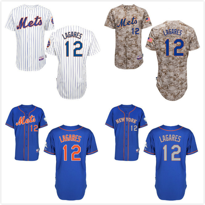 2015 Men's New York Mets #12 Juan Lagares Jerseys Baseball Jersey ,Stitched Lettering & Numbering 2077(China (Mainland))