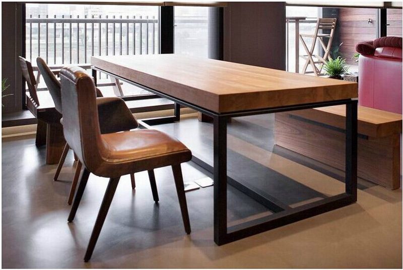 European Solid Wood Dining Table Rectangular