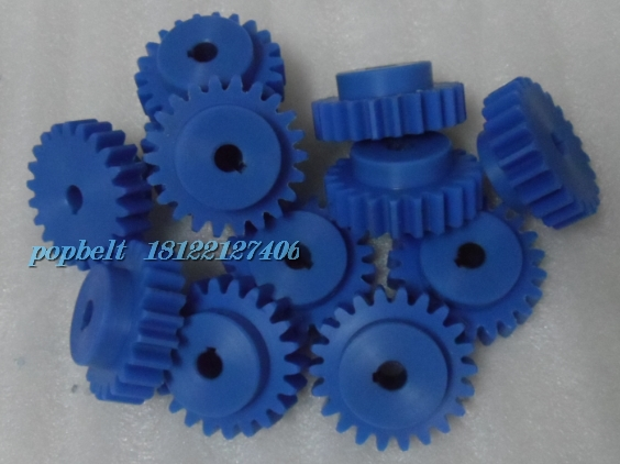 Professional processing 2 modules imported blue nylon gear tooth 22, also ordered other models and the number of teeth(China (Mainland))
