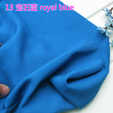 "Buy Royal Blue Viscose Fabric Cotton Fabric Silk Artificial Cotton Fabric Skirt fabric 60"" Wide Sold Yard Free for $8.37 in AliExpress store"