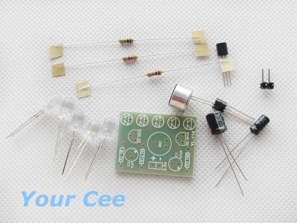 Voice Control LED Melody Light LED DIY Electronic Production Kit(China (Mainland))