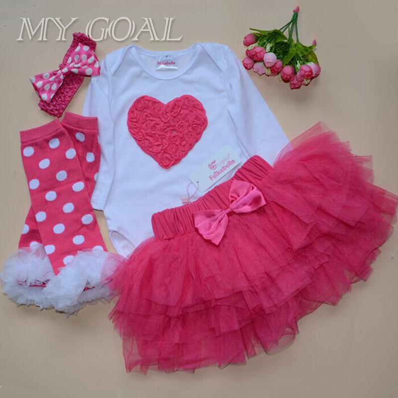 Baby Clothing Sets Long Sleeve Romper Tutu Skirt Set Bebe