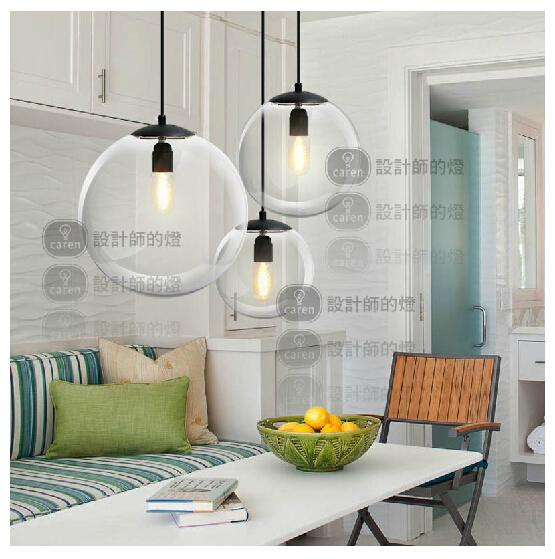 Lampes suspendues modernes pour salle manger verre for Gros luminaire suspendu