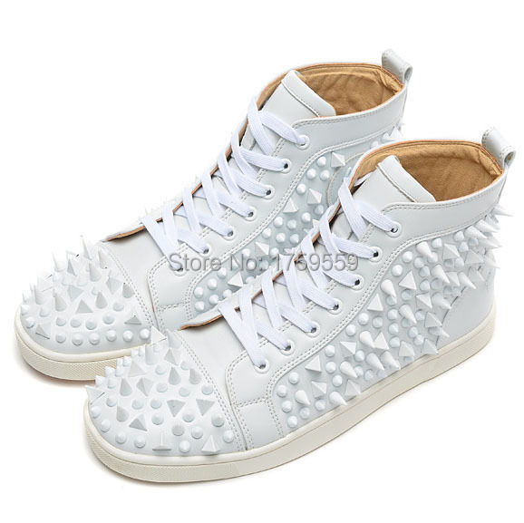 2015 Red Bottom Sneakers Flat Men Shoes With Spikes Red
