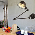 Retro loft living room bedroom bedside wall lamp arm adjustable lampcorridor study office lamp vintage light