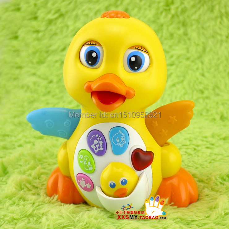 Electric baby toy swing big ducks toy baby 0-1 year old(China (Mainland))