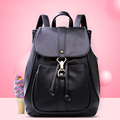 Famous Brand Solid Color Backpack Women 2016 New Flap Drawstring Bag High Quality Japan And Korean