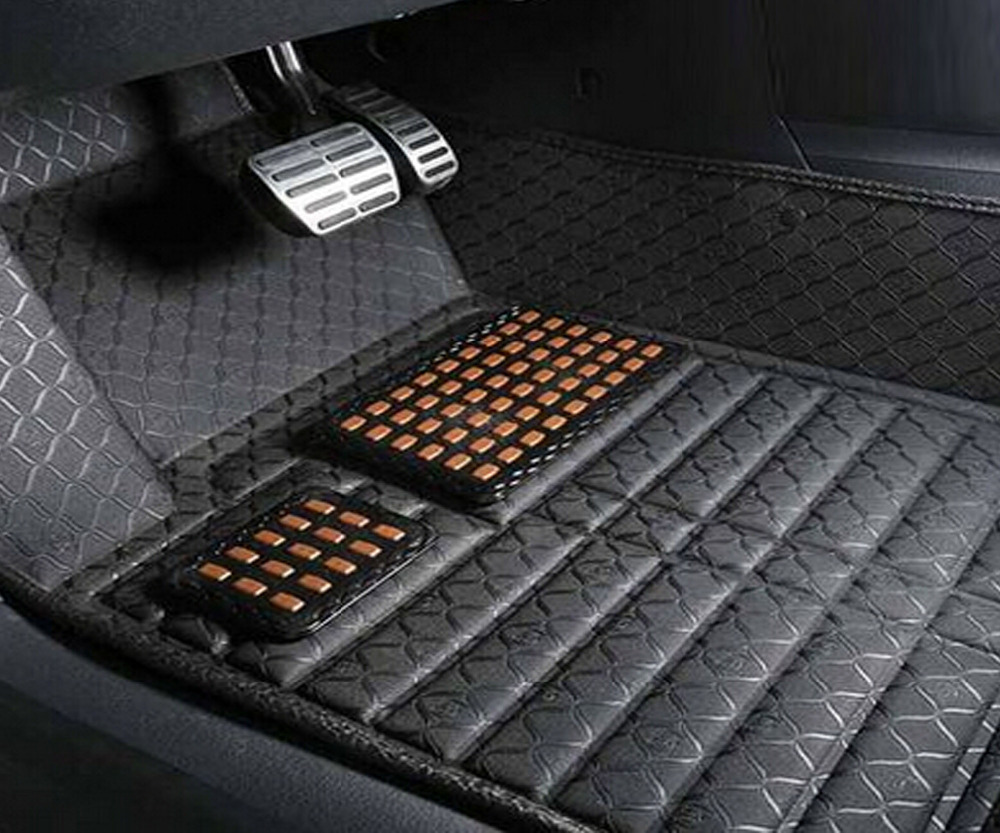 5D Embossed pattern 4 colour EVA + PVC material indention special for forester 2010 -- 2015 years car floor mats(China (Mainland))