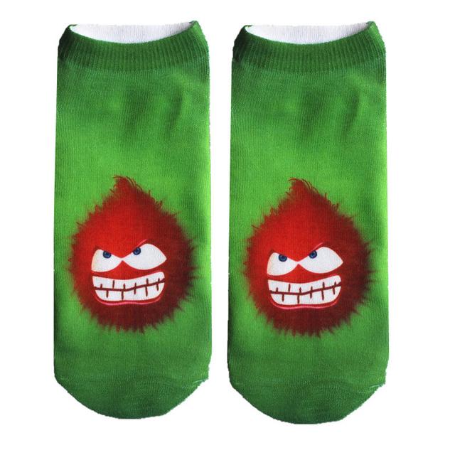 Новый 3D напечатаны носки женщинам-унисекс симпатичные глубоким вырезом носки несколько ...