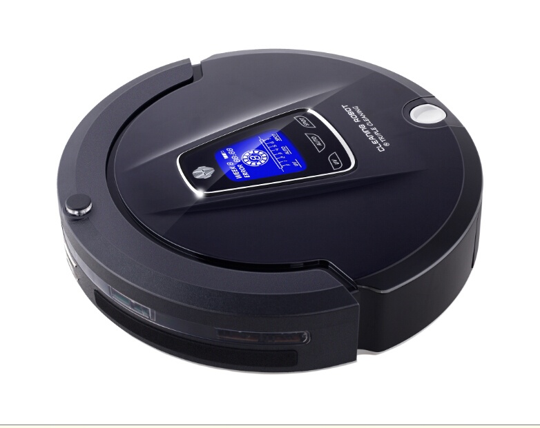 Most Advanced Duct Smart Vacuum Cleaning Robot (Sweep,Vacuum,Mop,Sterilize) With Scedule,LCD Touch Screen,2 Main Brush(China (Mainland))
