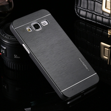 Samsung Galaxy J3 J300 J300F J3000 Case Deluxe Motomo Aluminum Metal Fashion Brush Hard Back Cover Protective Phone Cases - iShopping-24 Hours Sincerely Serving You! store