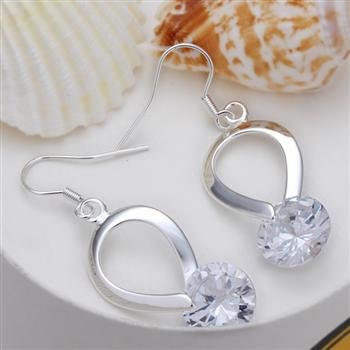 Free Shipping 925 Sterling Silver Earrings,Hanging drop stone earrings,925 Sterling Silver Earrings wholesale jewelry E081<br><br>Aliexpress