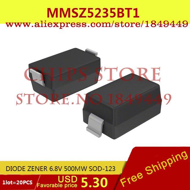 Бесплатная Доставка IC Интегральной Схемы MMSZ5235BT1 ДИОД ZENER 6.8 В 500 МВТ SOD-123 5235 MMSZ5235 20 ШТ. nowley nowley 8 5235 0 a3