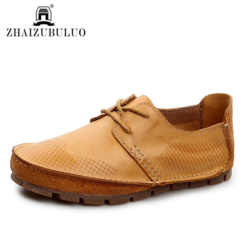 Fashion Men Casual Shoes Genuine Leather Shoes Breathable Oxford Shoes Spring Autumn Flats Loafers Moccasins Sapatos Masculino
