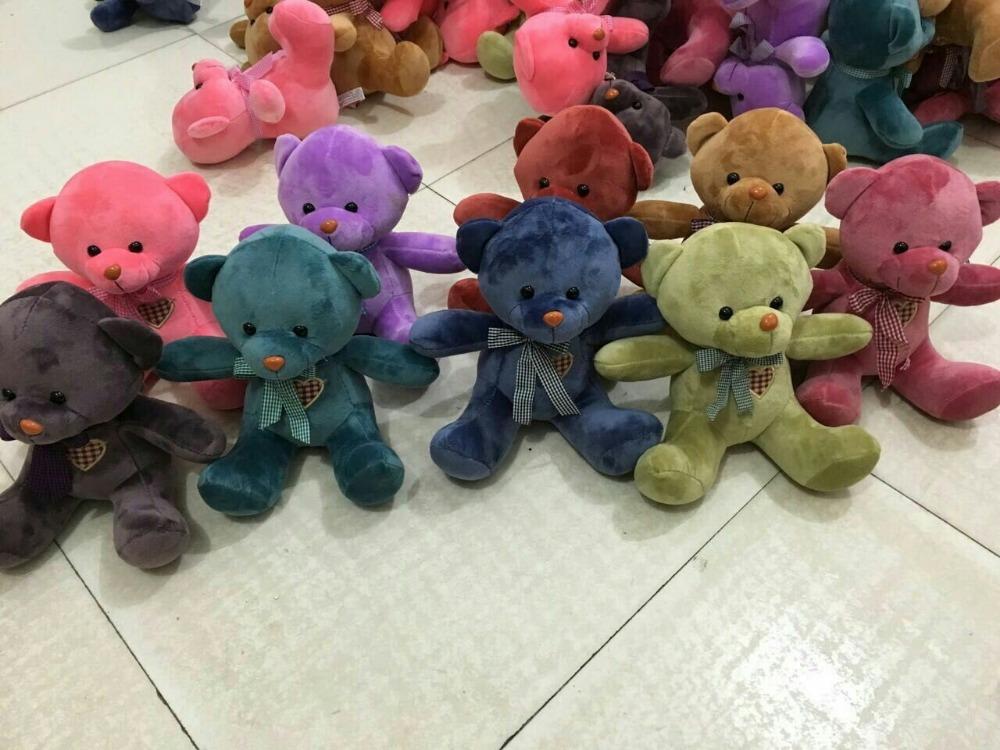 10 pieces cute teddy bear toys lovely high quality small teddy bear doll wedding gift about 20cm(China (Mainland))