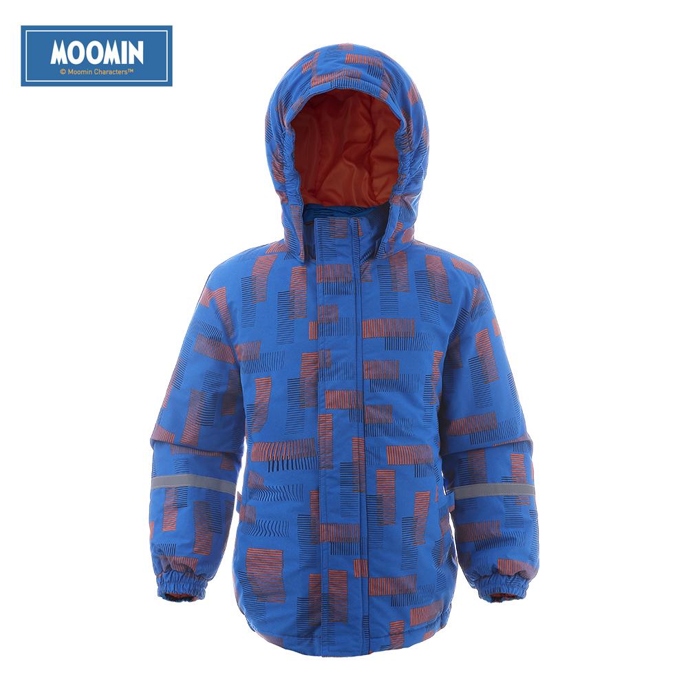 Moomin 2017 New Arrival Oxford winter jacket boys Geometric boy outwear blue winter Zipper coat waterproof winter jacket kids
