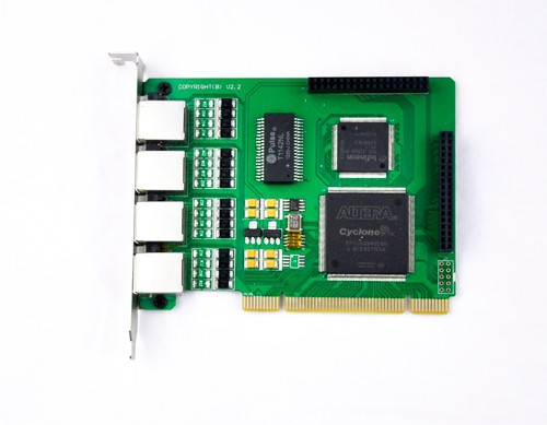 Quad span ip pbx pci card support PRI R2 SS7, E1 voip call terminal(China (Mainland))