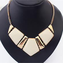 New Candy Color Collar Necklaces Pendants Fashion Statement Metal Choker Necklace For Women 2016 Vintage Jewelry Accessories