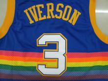 A buon mercato pepite autentico 3 allen iverson blu neve fans edition jersey bisogno di maglia nuovo materiale pullover di pallacanestro(China (Mainland))