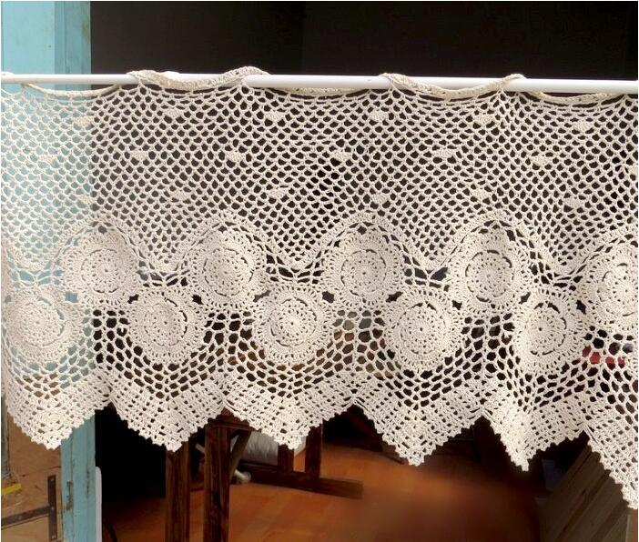 Popular Crochet Kitchen Curtains-Buy Cheap Crochet Kitchen