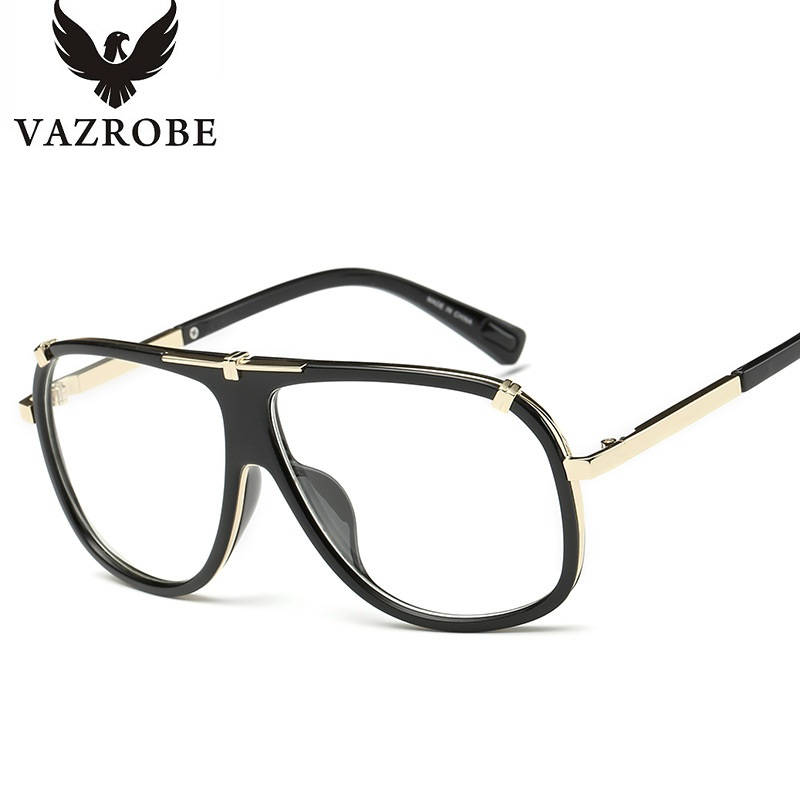 oversized designer eyeglasses 1f74  vazrobe fashion aviation oversized Men's eyeglasses frames for glasses  Women's designer eyeglass frame Brand Optical frames