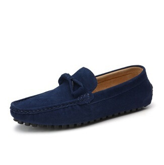Size 38~44 handmade Genuine leather men Casual Flats driving shoes,Business men flat shoes original brands(China (Mainland))