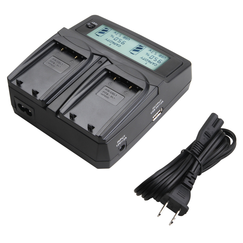 Udoli ENEL1 EN-EL1 Digital Battery Car Dual Charger with USB Port LCD Display for Nikon E880 Coolpix 5400 5700 8700 5000 Cameras<br><br>Aliexpress