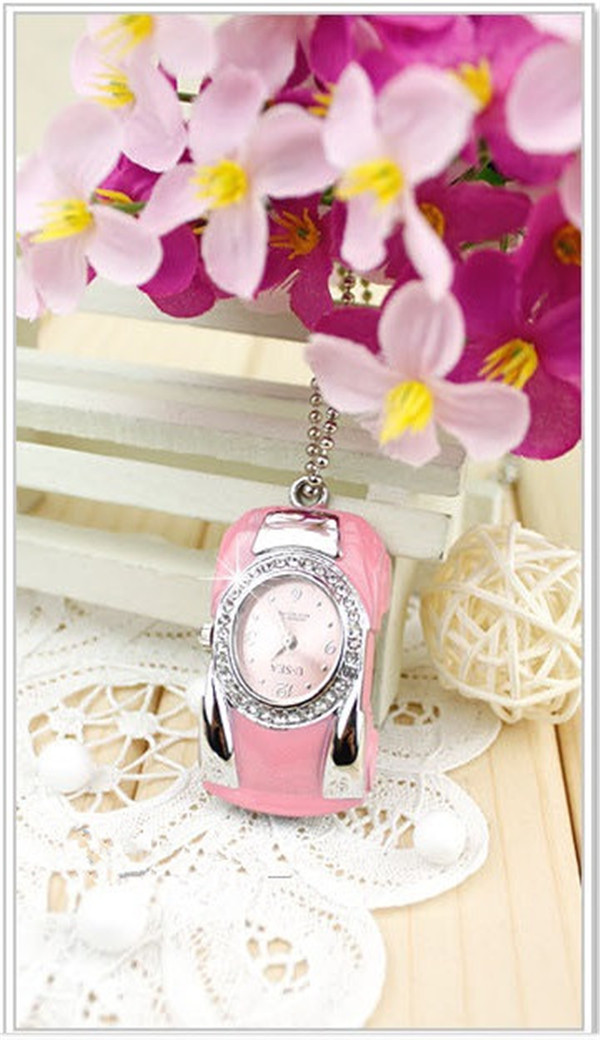 New style  crystal watch/ keychain USB 2.0 Flash Drives thumb pendrive memory stick U disk High speed/ wholesale1GB-64GB <br><br>Aliexpress