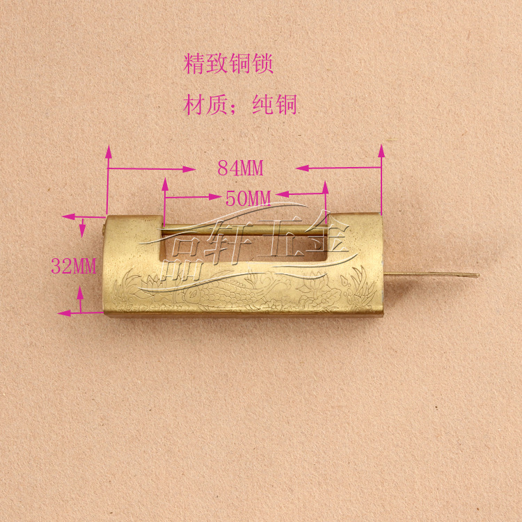 Chinese antique brass lock factory direct vintage small brass locks lock antique cross locked open padlock pillow(China (Mainland))