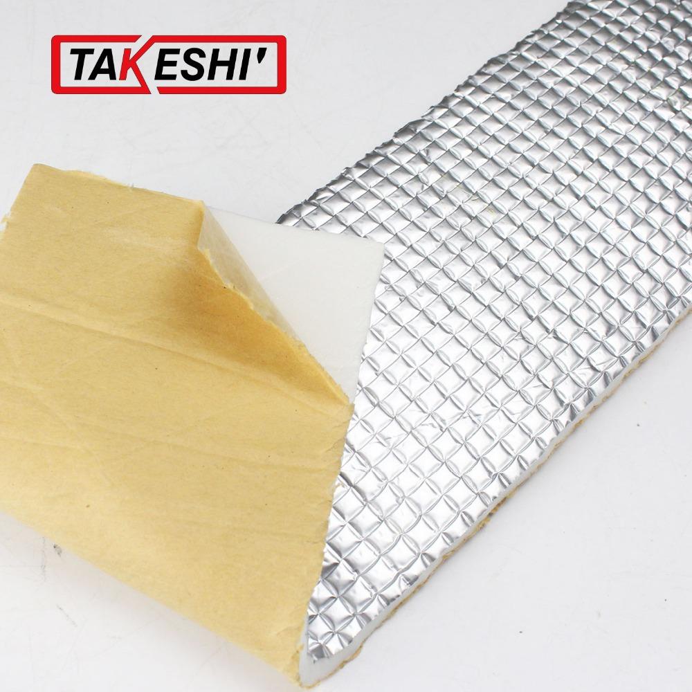 "20""x40"" 50cmx100cm Aluminium Deadening Deadener underlay PAD Sound Control Proofing Heat Insulation noise control anti-noise Mat"