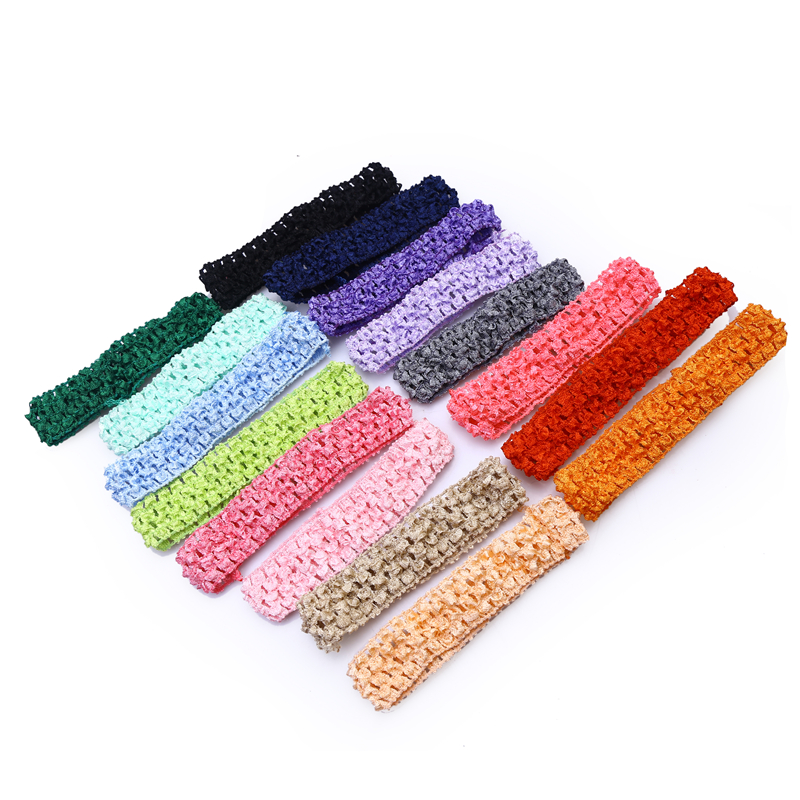 (1pcs/lot) 2016 NEW Free Shipping Baby Hair band Crochet Headbands Children Hair bands Kids Accessories 16 color in stock FJ0022(China (Mainland))