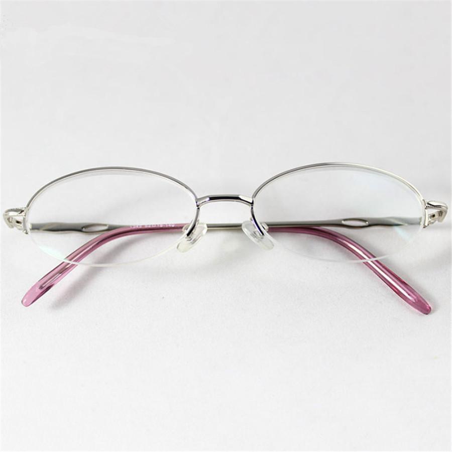 Brand Designer Eyewear Half Frame Silver and Pink Reading Glass Super Quality Women Reading Glasses(China (Mainland))
