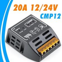 Controlador de Carga solar 20A 12 V 24 V regulador solar para 480 W 240 W panel solar controlador de carga de la batería
