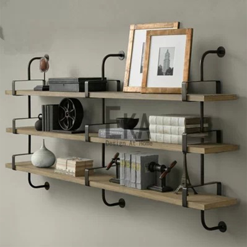 American country LOFT shelves / Creative vintage bookshelf / Iron Wall shelves / compartment bulkhead flower(China (Mainland))