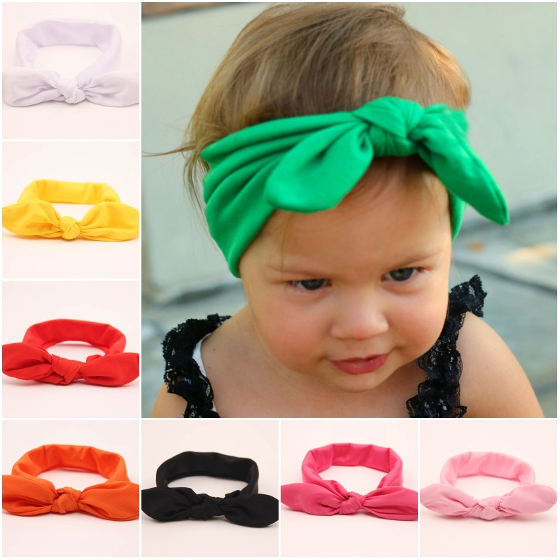 2015 Retail big bow headwrap lovely bowknot baby headbands cotton baby headwear girl hair bow 9 colors pick drop shipping YS9624(China (Mainland))