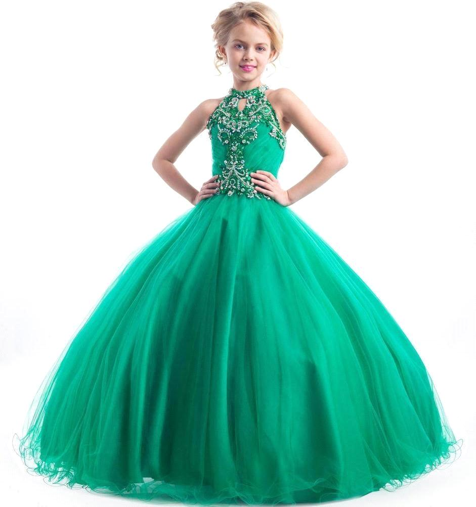 Girls Pageant Ball Gown Dresses