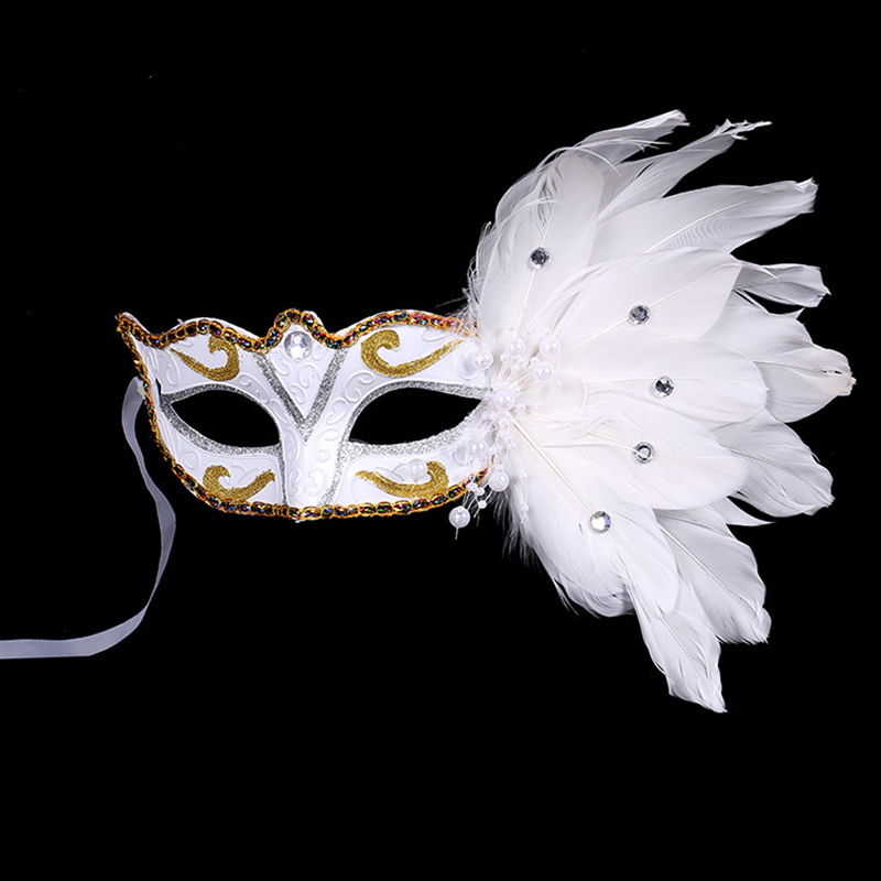 White Cosplay Mask Halloween Birthday Evening Party Leather Masks Make Up Tools Fancy Parties Masquerade Accessories(China (Mainland))