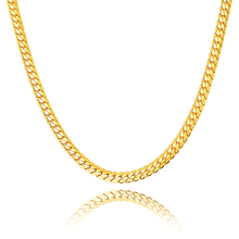 Buy 2017 new listing Necklace Long/Choker Wholesale 6MM Vintage Gold color Chain Women/Men Jewelry for $2.89 in AliExpress store