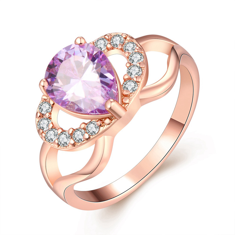 Female Luxury Finger Ring With CZ Crystal Gold Plated Colorful Crown Rhinestone Brand Engagement Wedding Rings For Women Gifts(China (Mainland))