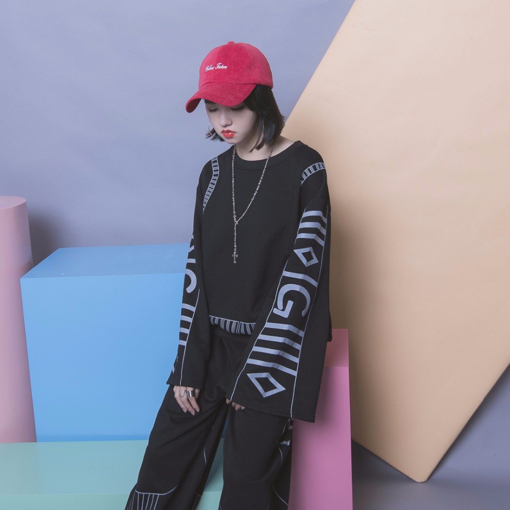 Flare Sleeve Designer Harajuku Women Sets 2 Piece Long Sleeve Large Loose Sweatshirt Harlan Pants Sweat Shirts Leisure Suits