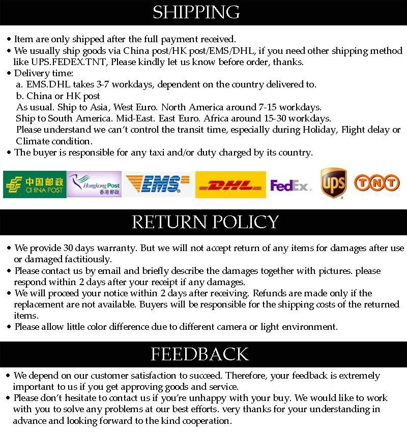 Shipping Return Policy Feedback