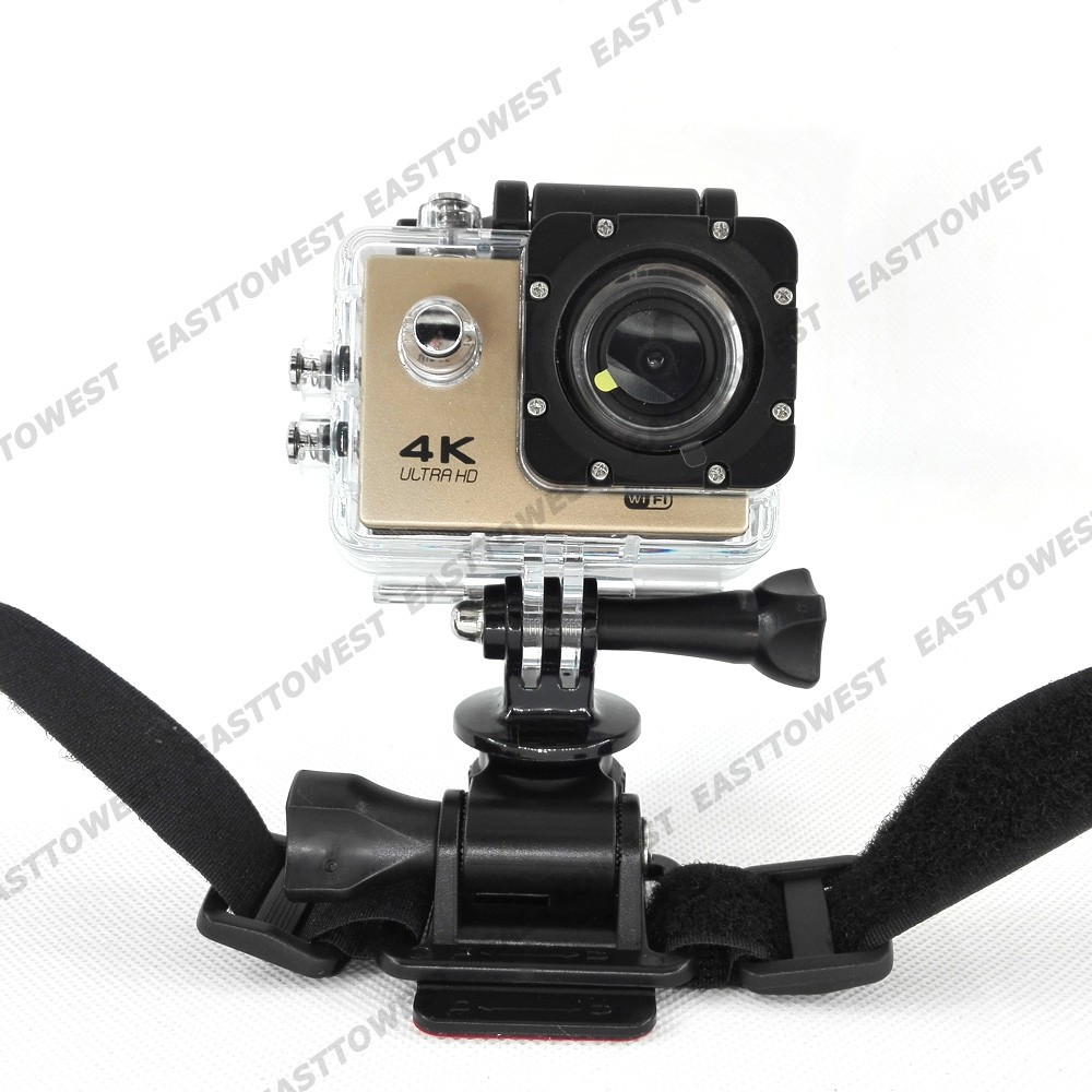 Universal Helmet Strap Belt Mount For Xiaomi Yi Gopro Hero 4 3 3+ SJCAM SJ4000 DSLR Camera