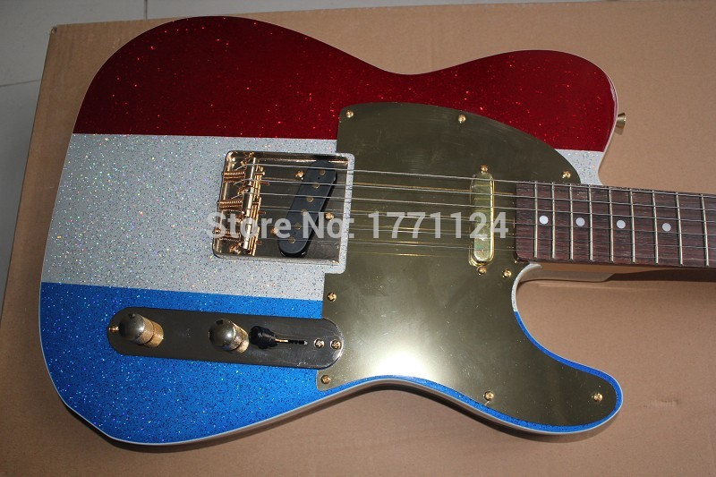 2020 Top quality wholesale signature Acoustic guitar telecaster electric guitar three color metal particles(China (Mainland))