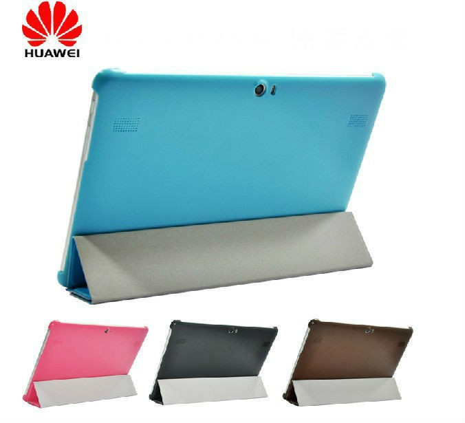 Гаджет  Ultra Slim Leather Smart Case Stand Back Hard Cover For Huawei MediaPad 10 FHD / Link+ case None Компьютер & сеть
