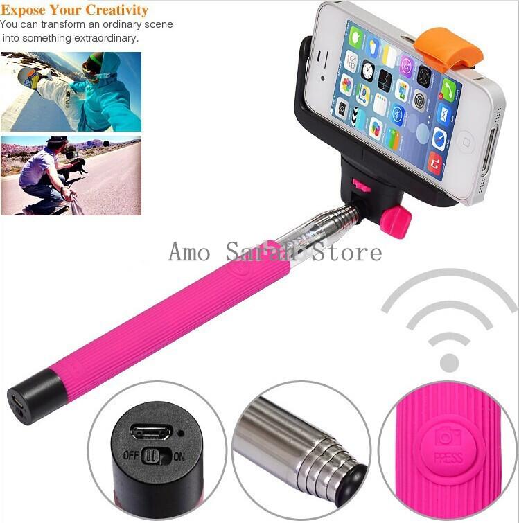 2015 Selfie Stick Bluetooth , Selfie Stick Monopod , Wireless Monopod Selfie Stick From China Supplier(China (Mainland))