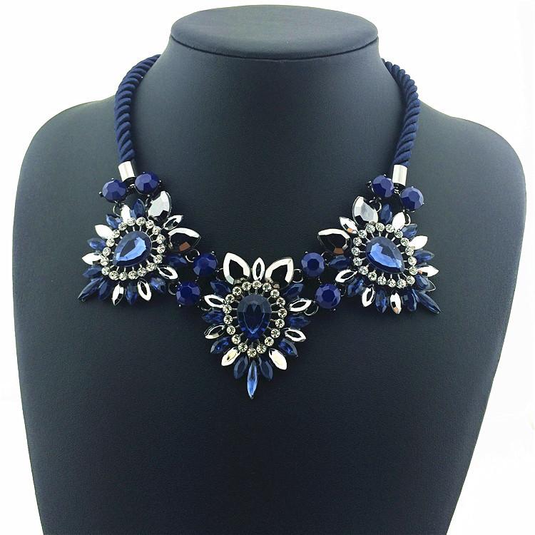 Hot Sale Daisy Flower Necklaces Pendants Soft Cotton Collar Statement Necklace 2015 New Women Charm Jewelry