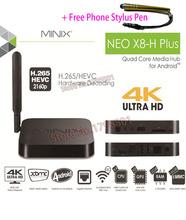 MINIX NEO X8-H Plus Android TV Box Quad Core 2GB/ 16GB HD 4K H.265 WiFi Smart TV Box + A2 Lite Air Mouse + Free Phone Stylus Pen