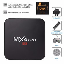 WoYi MXQ Pro Amlogic S905 Android 5.1 TV BOX 1GB/8GB Gigabit LAN WiFi H.265 KODI Loaded Smart TV HDD player(China (Mainland))