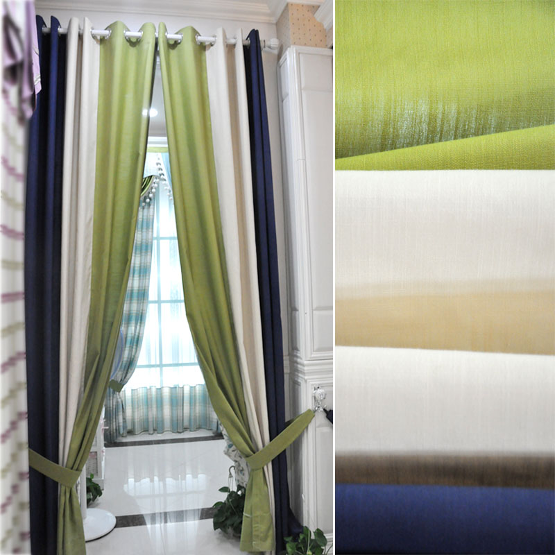 Cotton And Linen Curtains Simple Modern Style Living Room